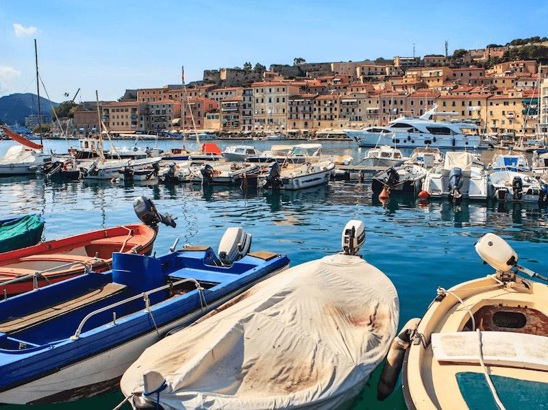 Elba island coast