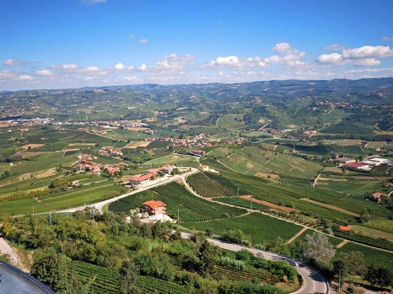 Panoramic of la morra