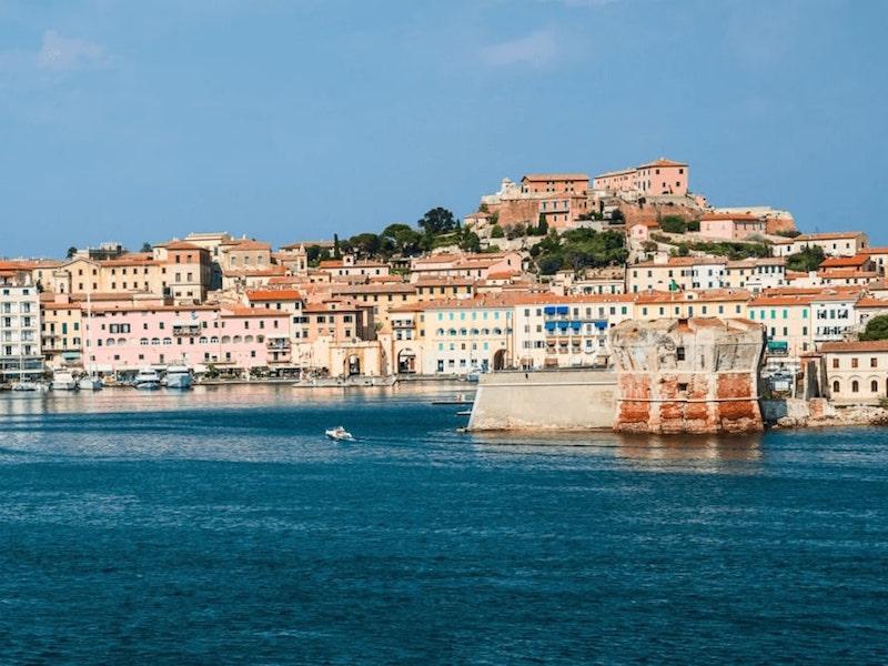 View of Elba island
