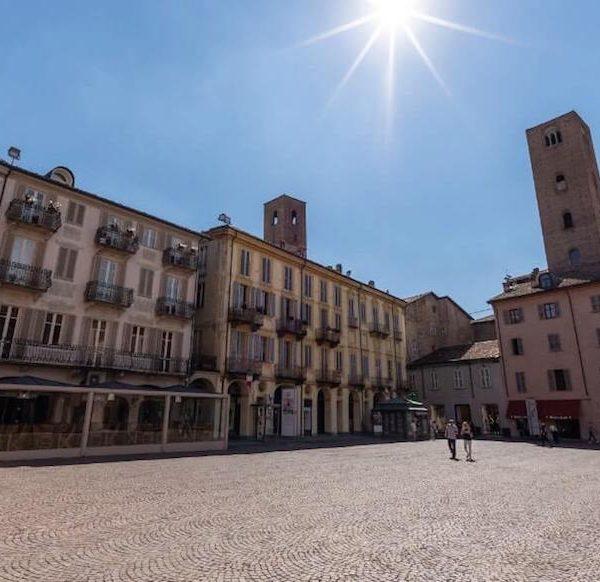 Alba city historic center