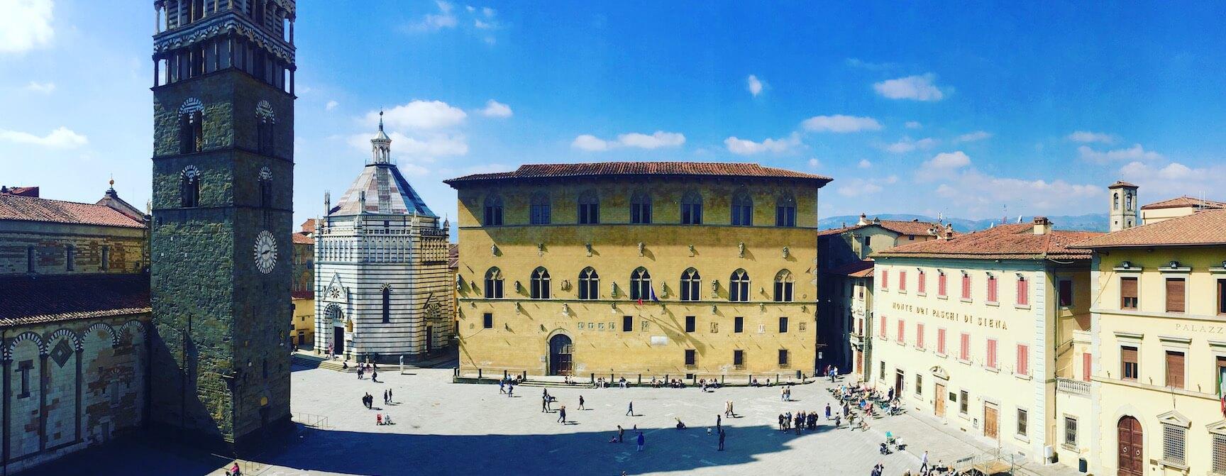 Pistoia square Tuscany