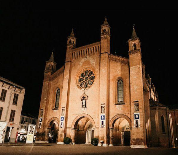 Alba city center square the Duomo