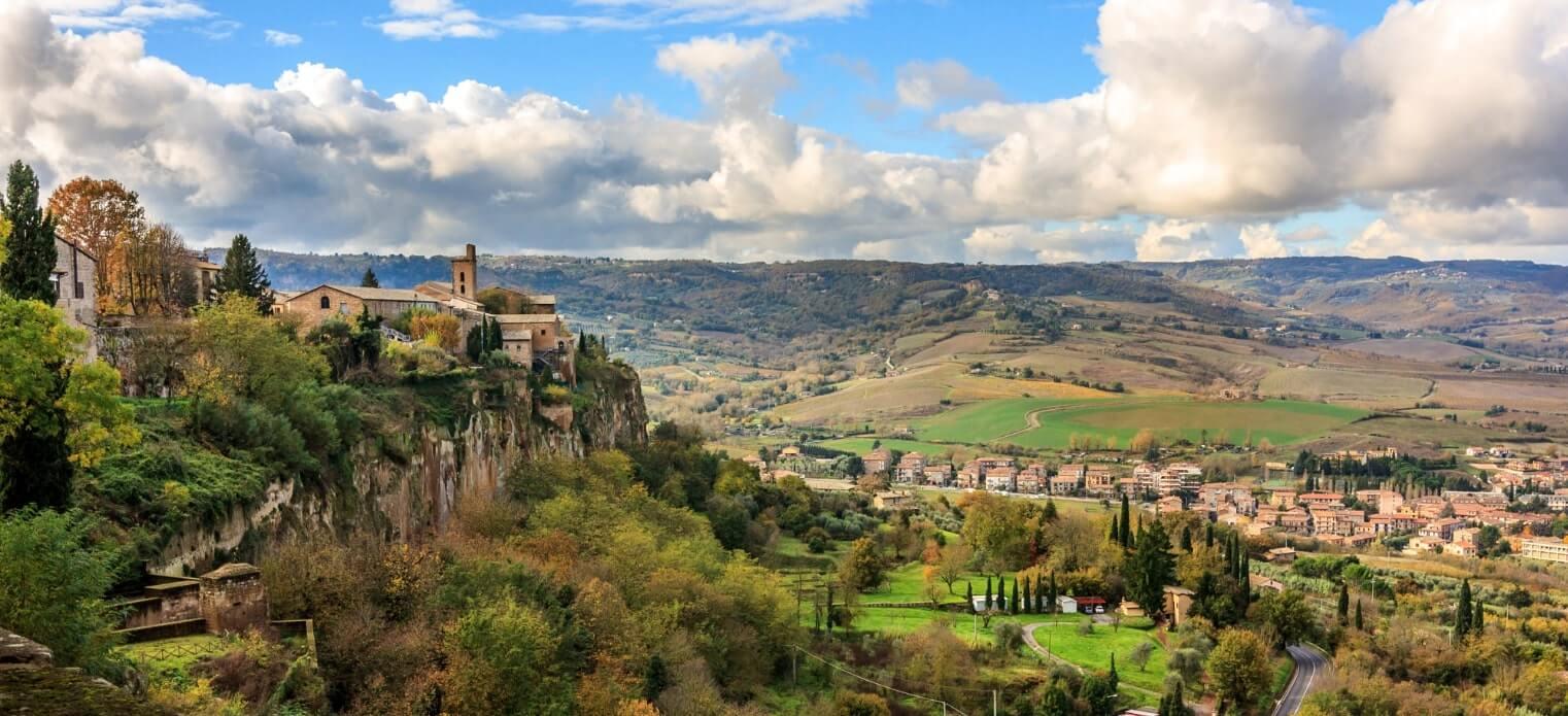 Orvieto hilltop view