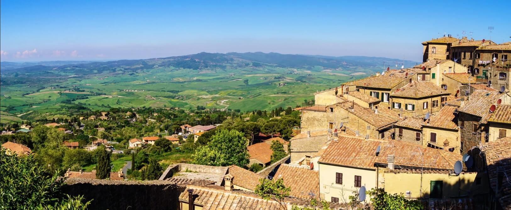 Volterra city view
